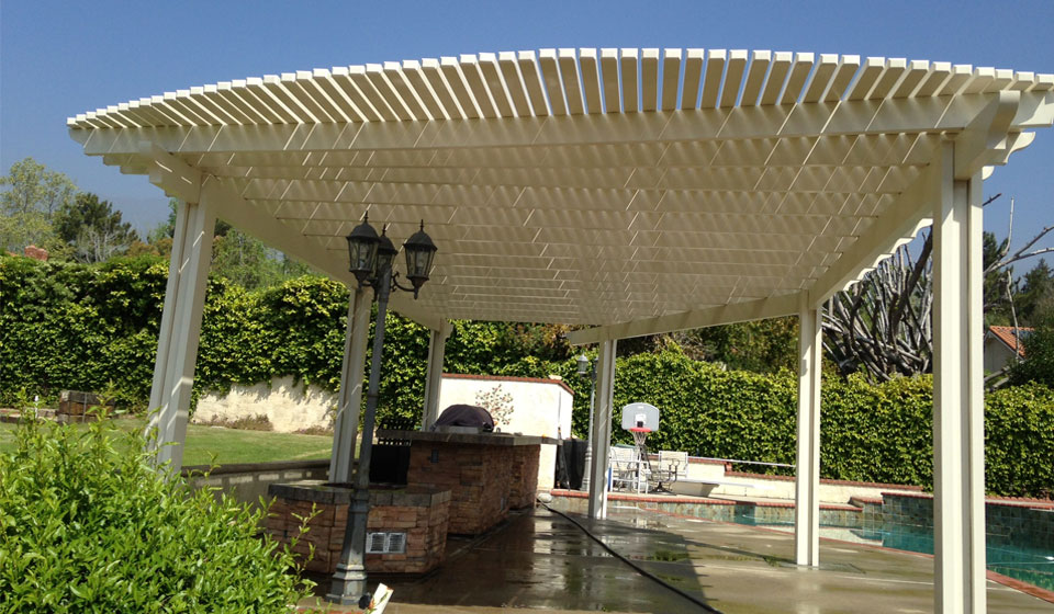 Free standing patio covers riverside for Freestanding patio cover