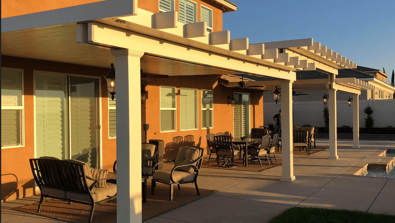 ... Add A New Outdoor Seating Area To Entertain Guests Whether In Your  Backyard Or Side Yard. You Will Be Amazed With Your Brand New Aluminum Patio  Cover ...
